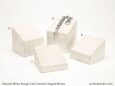 Natural White Rough Cast Cement Angled Blocks (4) $40 each