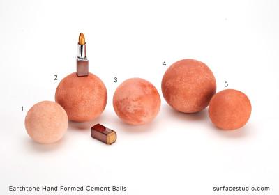 Earthtone Hand Formed Cement Balls (5)  $35 Each