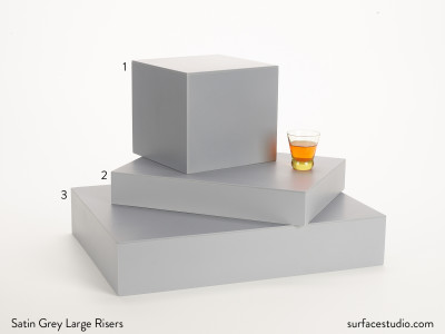 Satin Grey Large Risers (3)