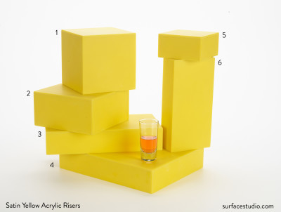 Satin Yellow Acrylic Risers (6)
