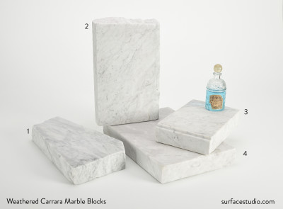 Weathered Carrara Marble Blocks (4) $50 each