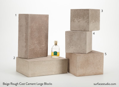 Beige Rough Cast Cement Large Blocks (5) $55 - $65