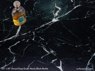 Honed Deep Green Nearly Black Marble (50 Lbs)
