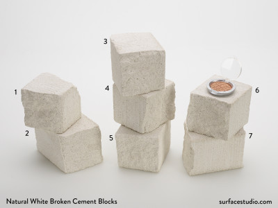 Natural White Broken Cement Blocks (7) $45 each