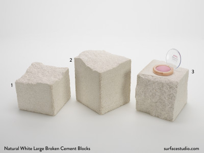 Natural White Large Broken Cement Blocks (3) $45 each