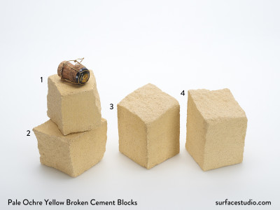 Pale Ochre Yellow Broken Cement Blocks. (4) $45 each