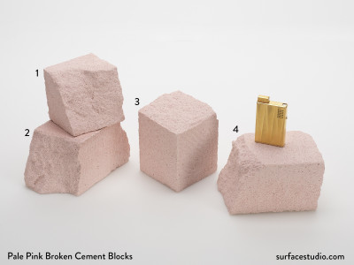 Pale Pink Broken Cement Blocks (4) $45 each