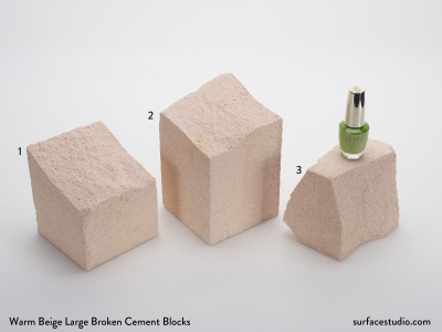 Warm Beige Large Broken Cement Blocks (3) $45 each