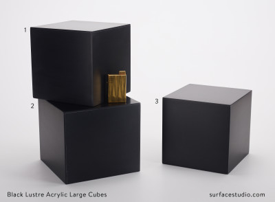 Black Lustre Acrylic Large Cubes (3)  $50 each