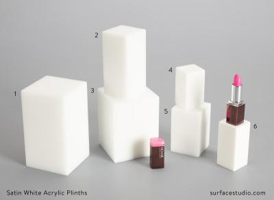 Satin White Acrylic Plinths (6)  $35 each