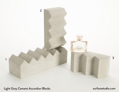 Light Grey Cement Accordion Blocks (3) $55 each