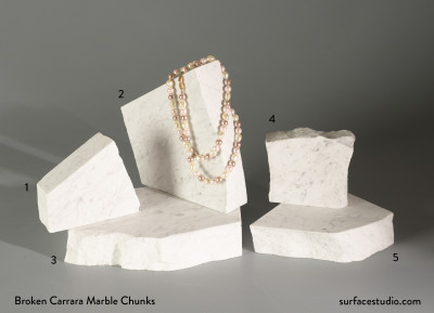 Broken Carrara Marble Chunks (5)