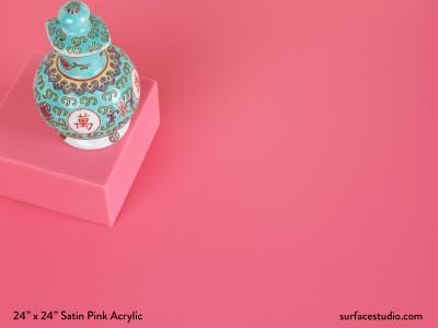 Satin Pink Acrylic