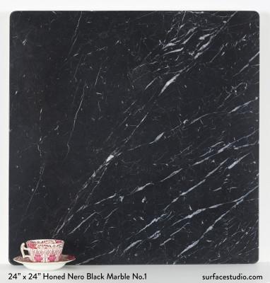 Honed Nero Black Marble No.1