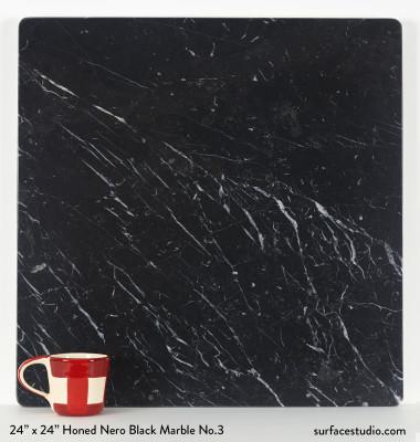 Honed Nero Black Marble No.3