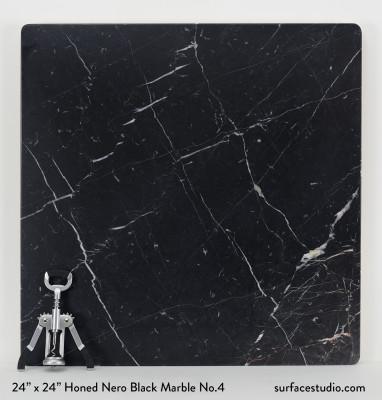 Honed Nero Black Marble No.4