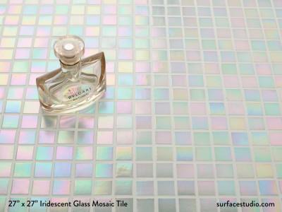 Iridescent Glass Mosaic Tile  (15 Lbs)