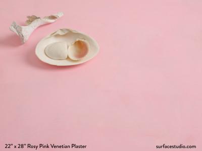 Rosy Pink Venetian Plaster
