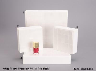 White Polished Porcelain Mosaic Tile Blocks (4) $50 each