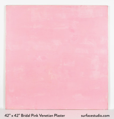 Bridal Pink Venetian Plaster