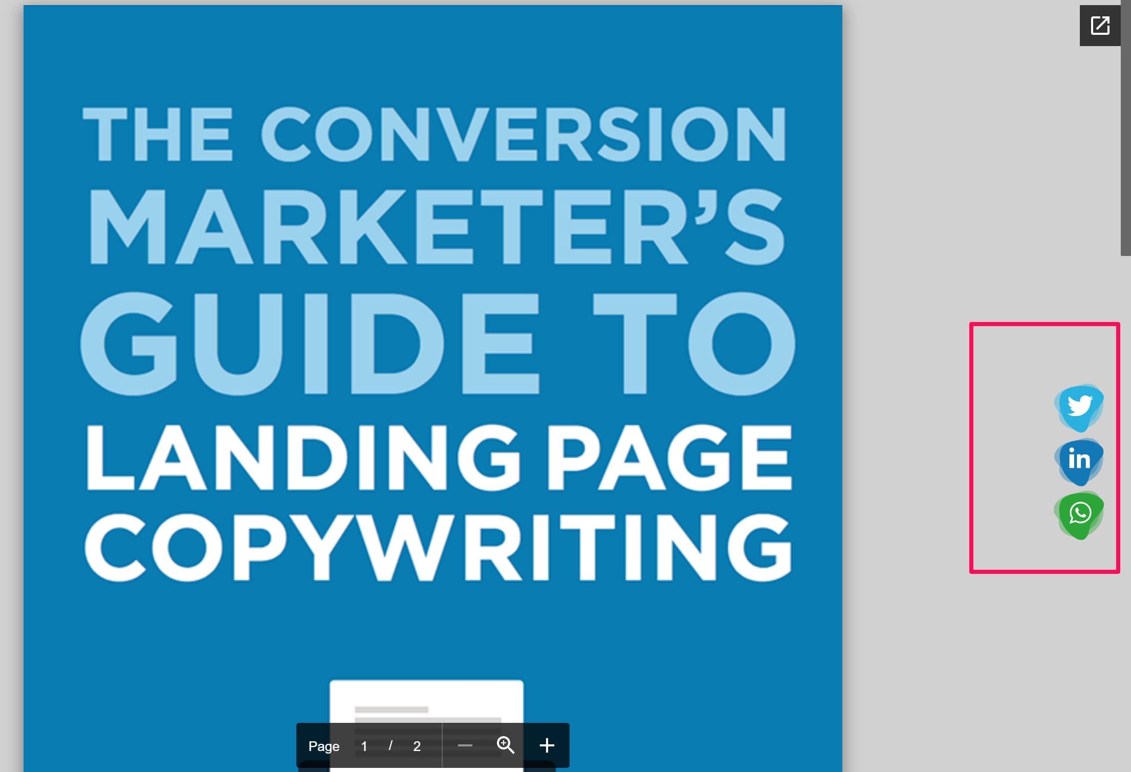 Como adicionar botões de partilha a um ebook, guia ou PDF (1)