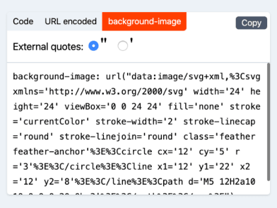 SVGX features: Background image CSS