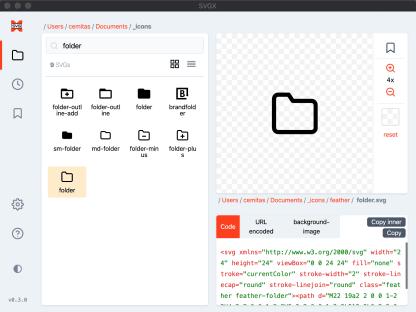 SVGX desktop SVG icon manager