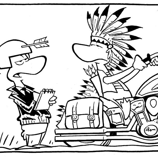 Sitting Bull Motorcycle Comic
