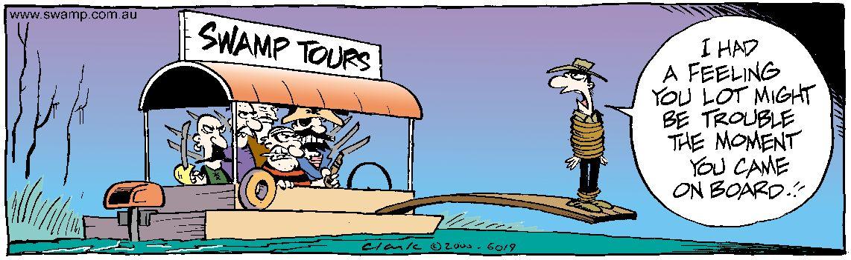 Pirates on Tour Boat Comic