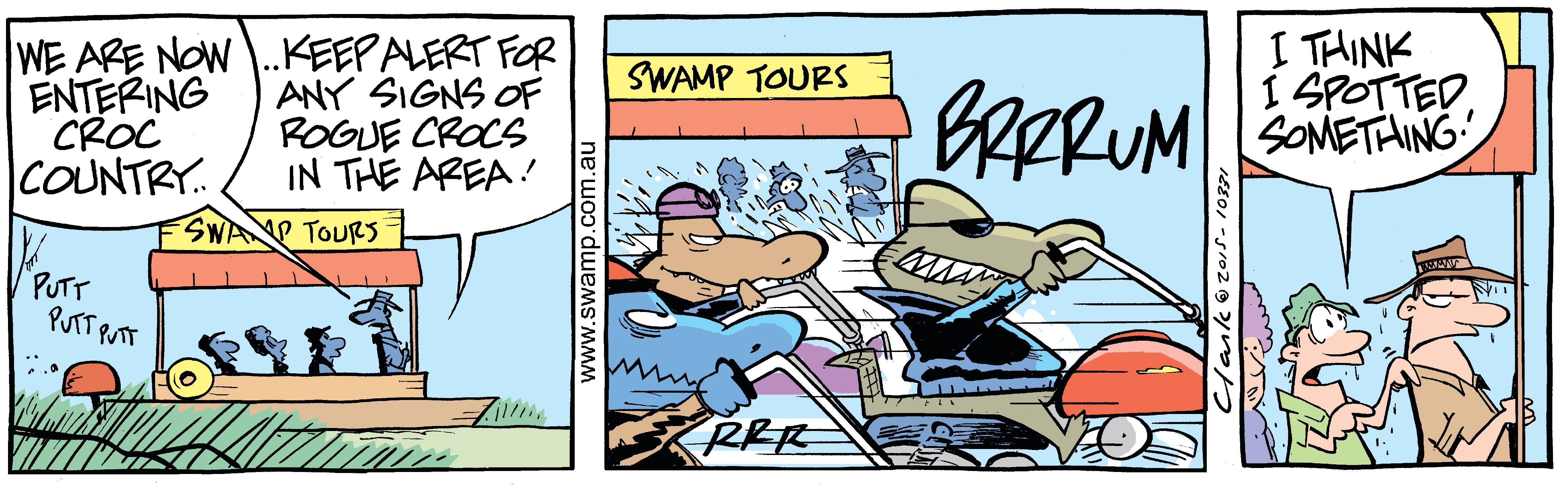 Rogue Crocodiles Motorbikes Comic
