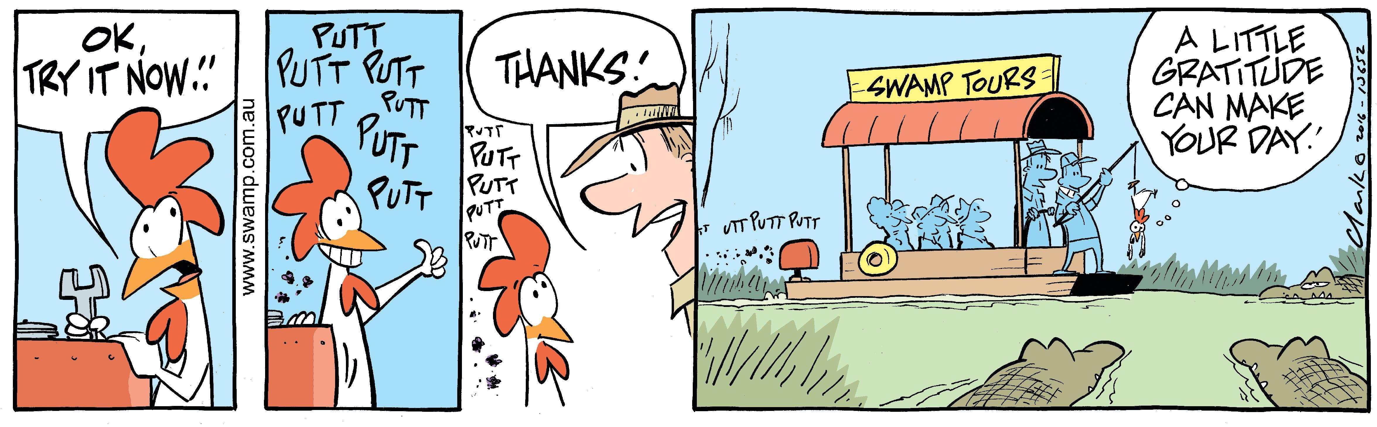 Croc Feeding Chicken Comic