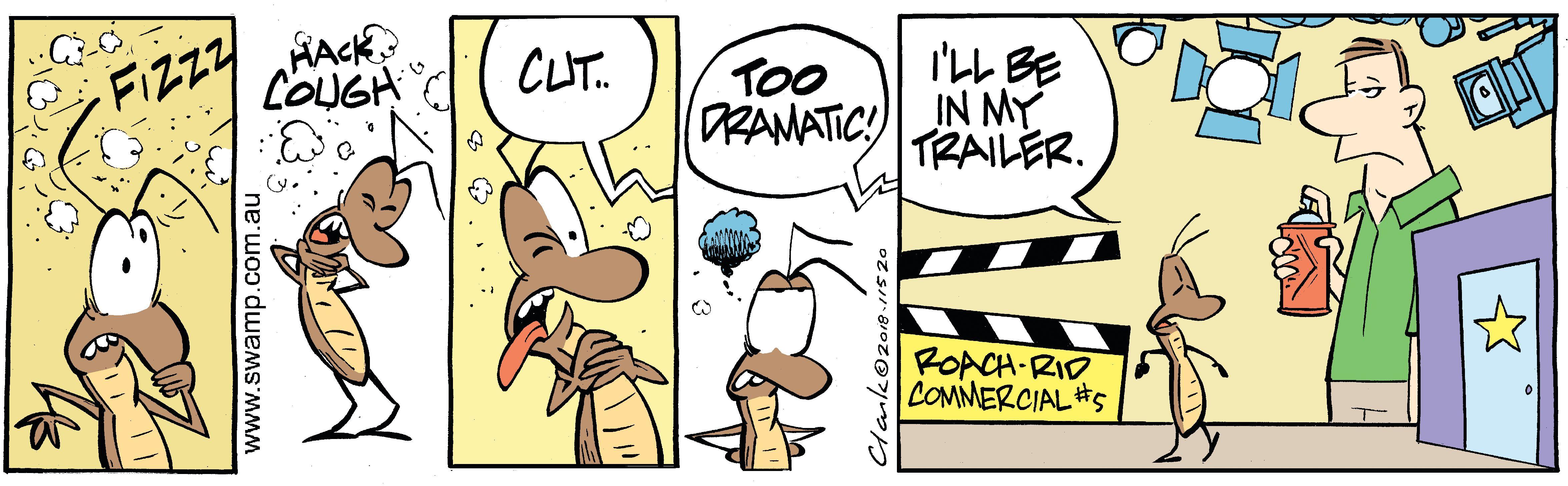 Swamp Cockroach Drama Comic