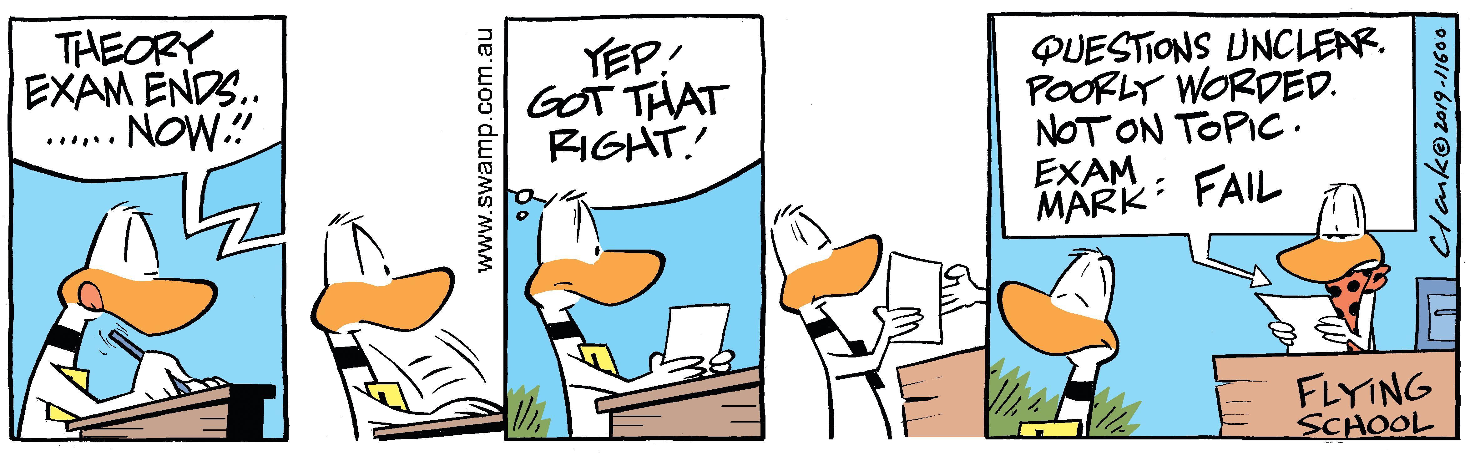 Ding Duck Exam Assessment Comic   Swamp Cartoons
