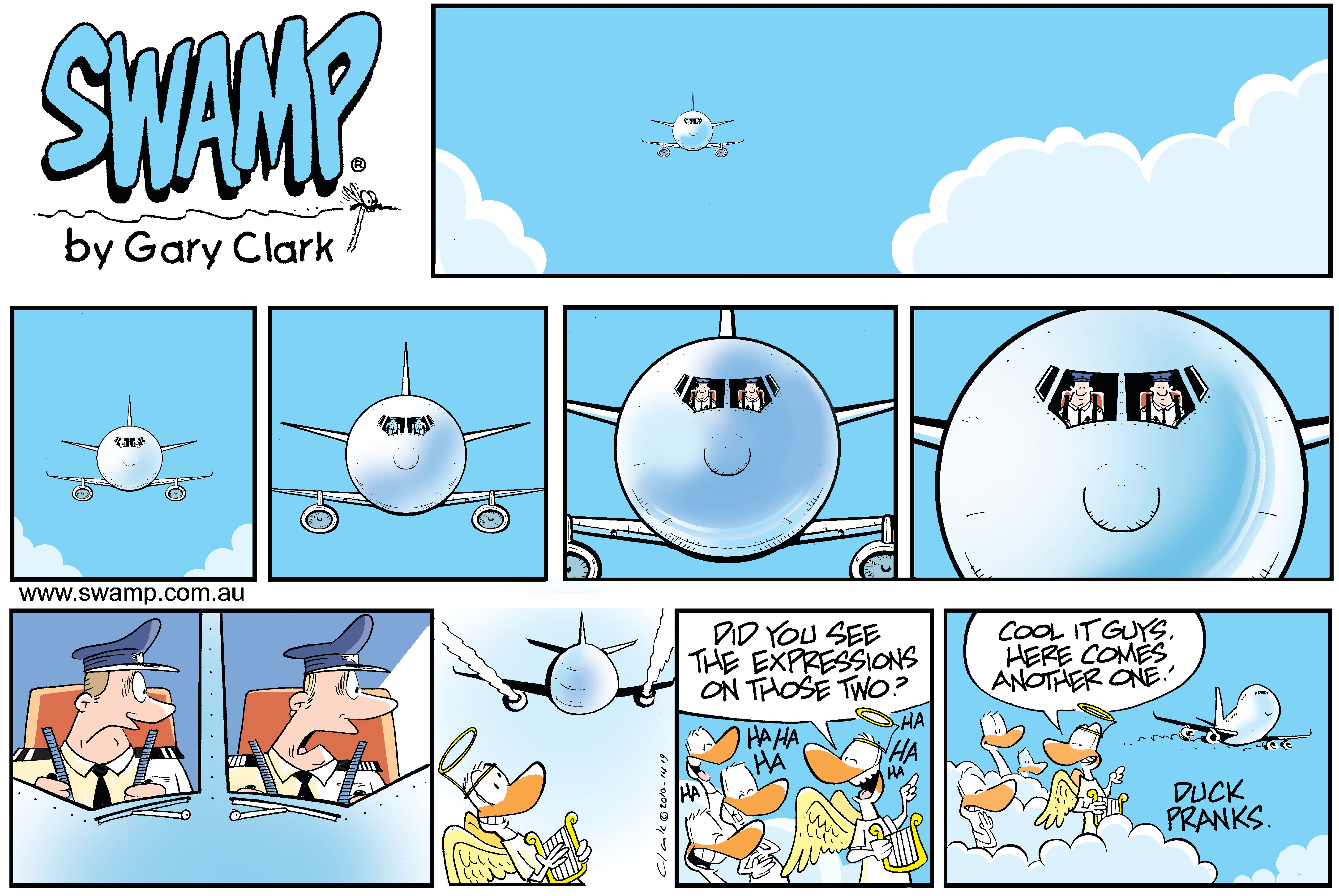 Ducks Prank Airline Pilots Comic