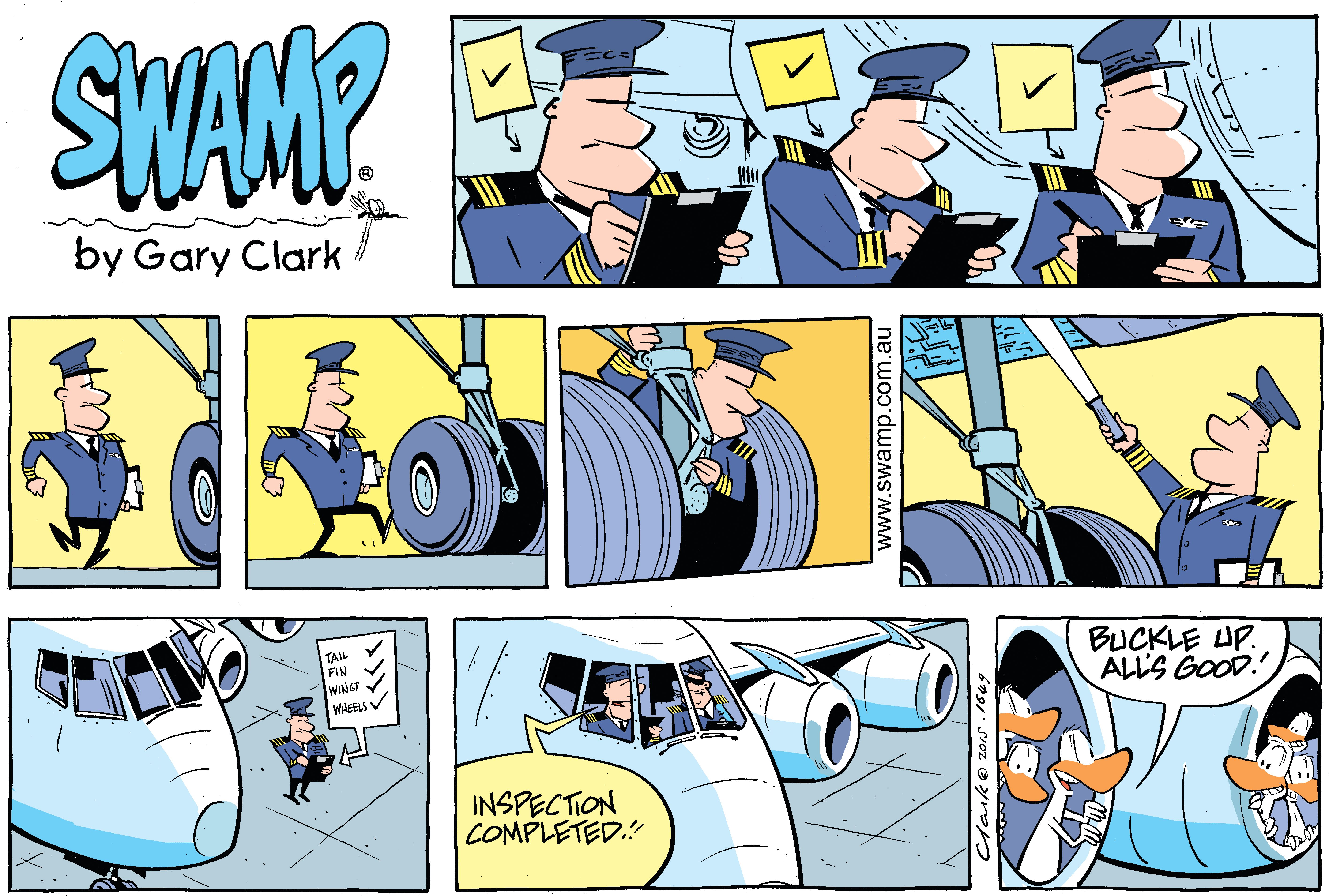 Pre-flight Inspection Comic