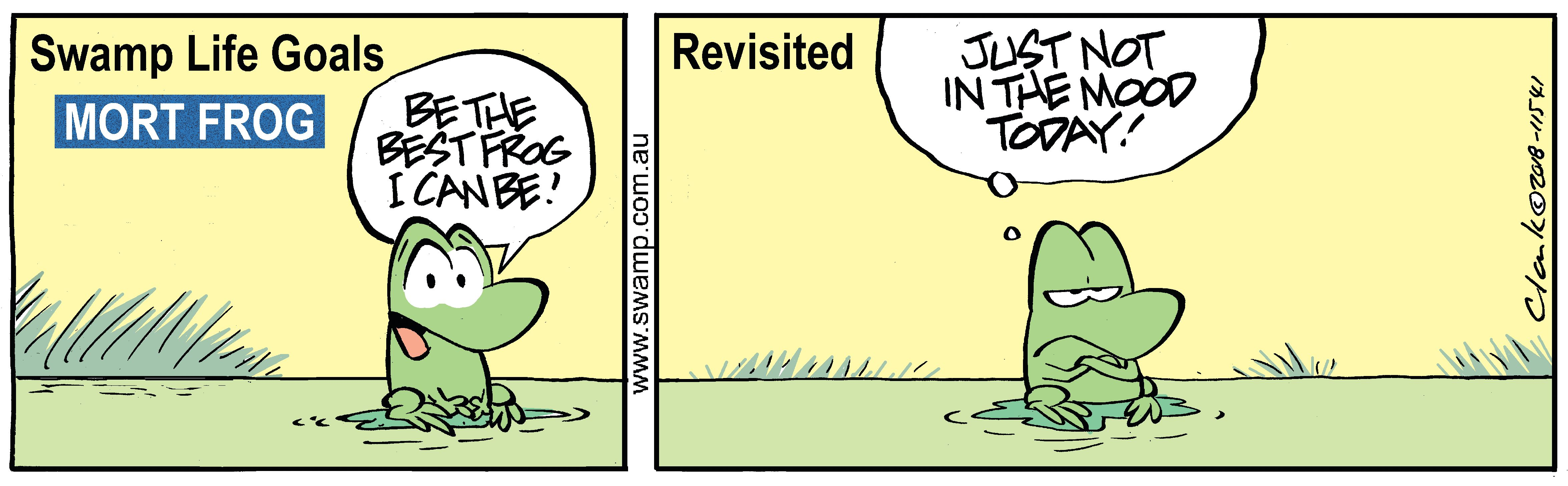 Mort Frog Bad Mood Comic