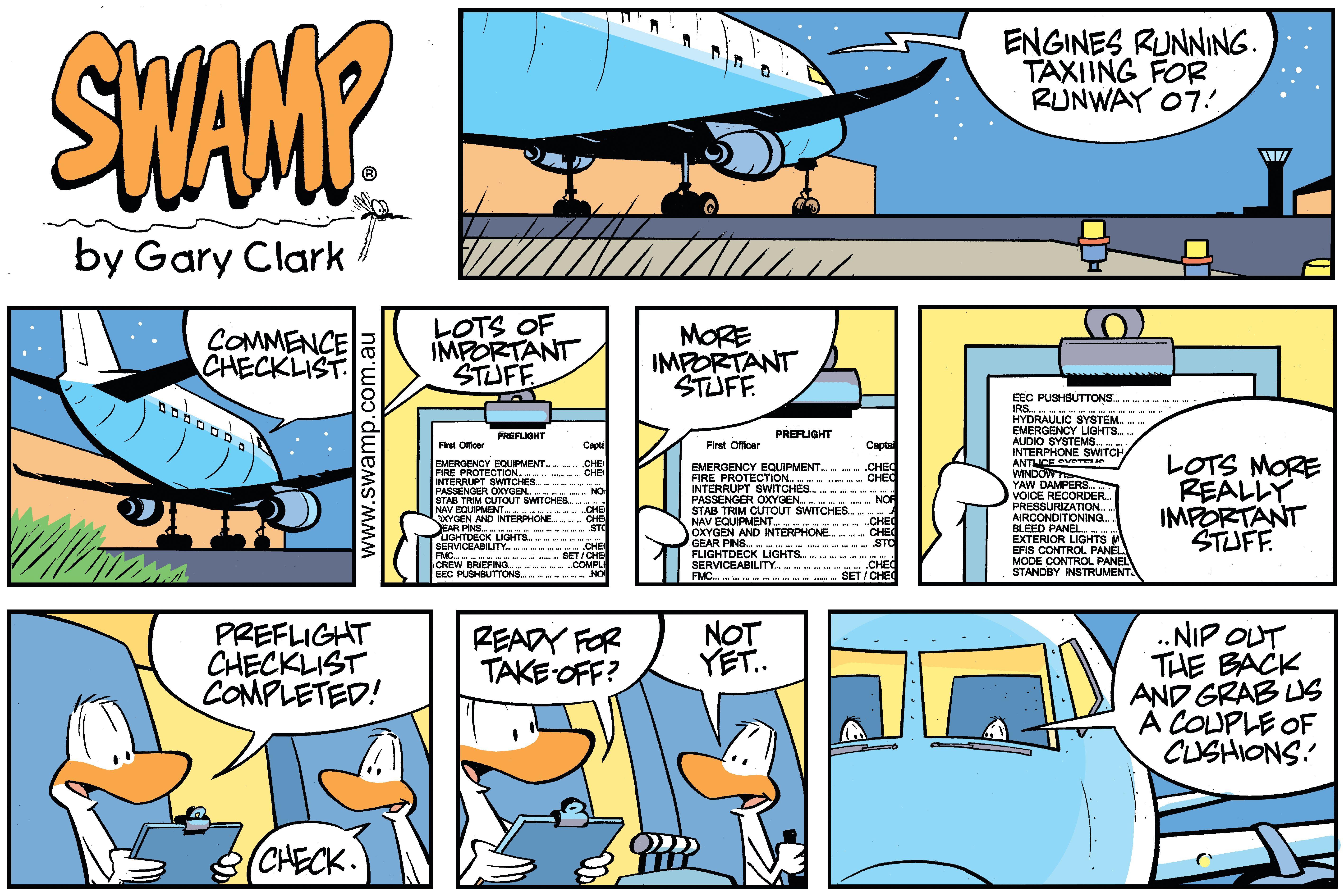 Swamp Ducks Checklist Comic