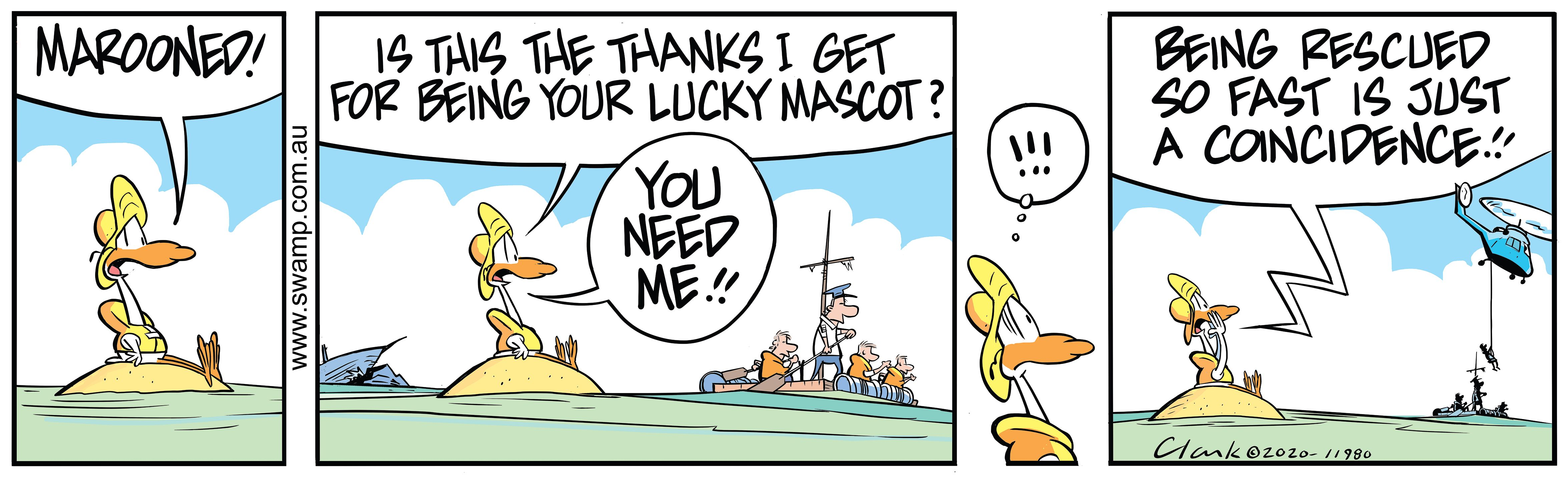 Lucky Mascot Marooned