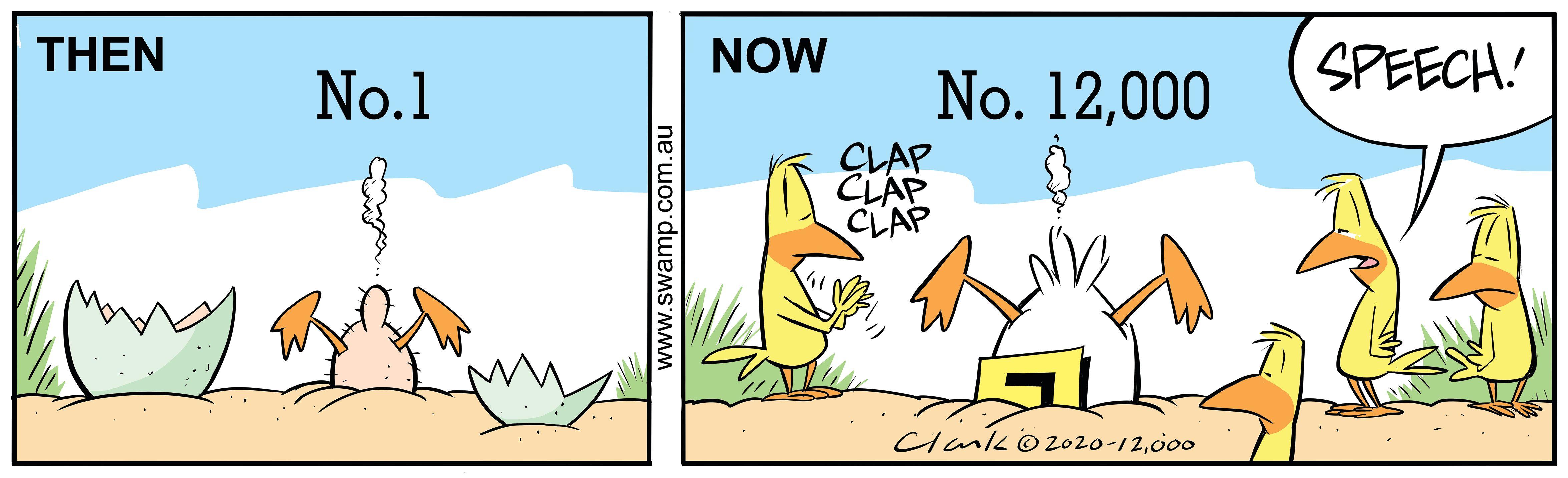 Gary Clark's 12,000th Daily Swamp Cartoon
