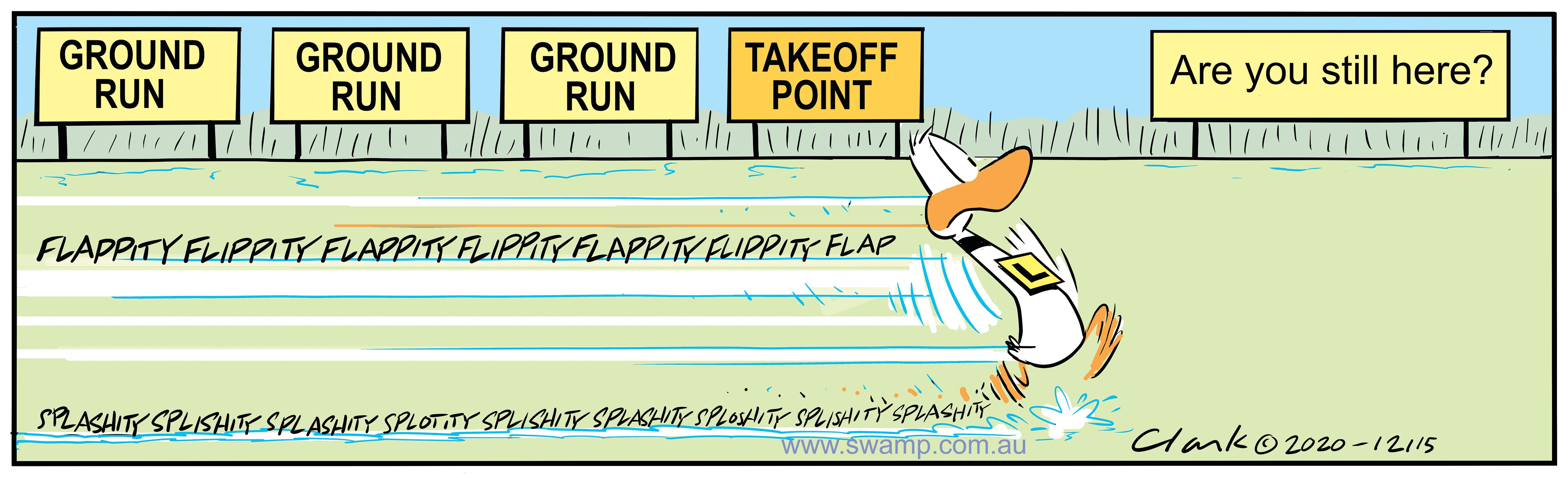 Ding Duck Take-off Point