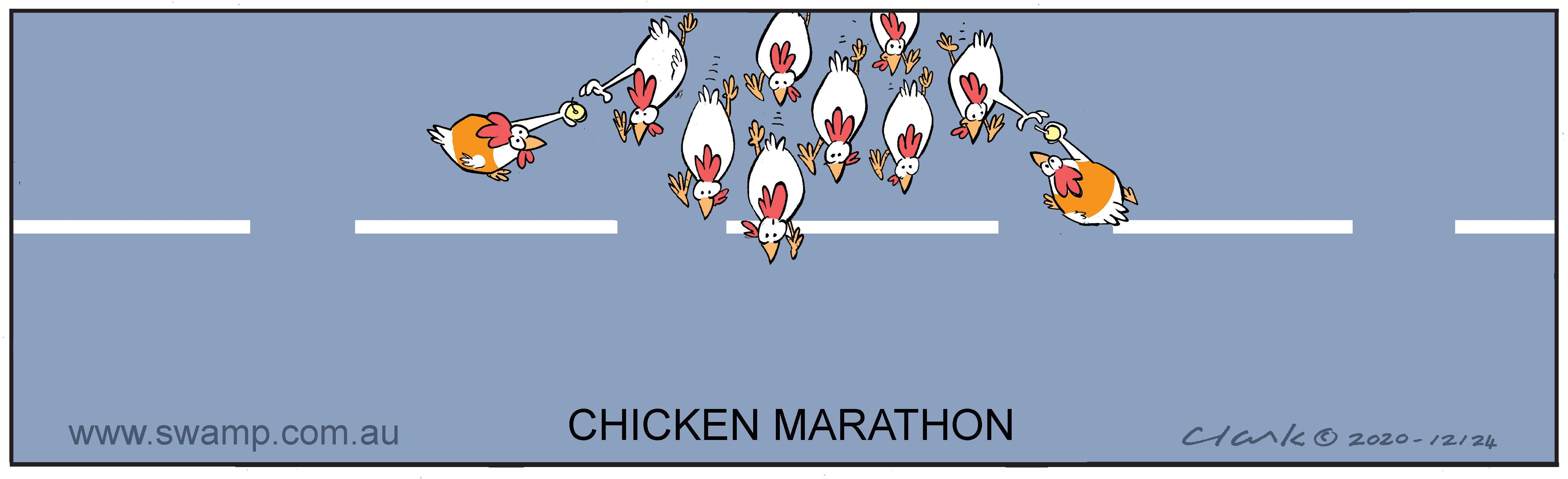 Chickens Running a Marathon