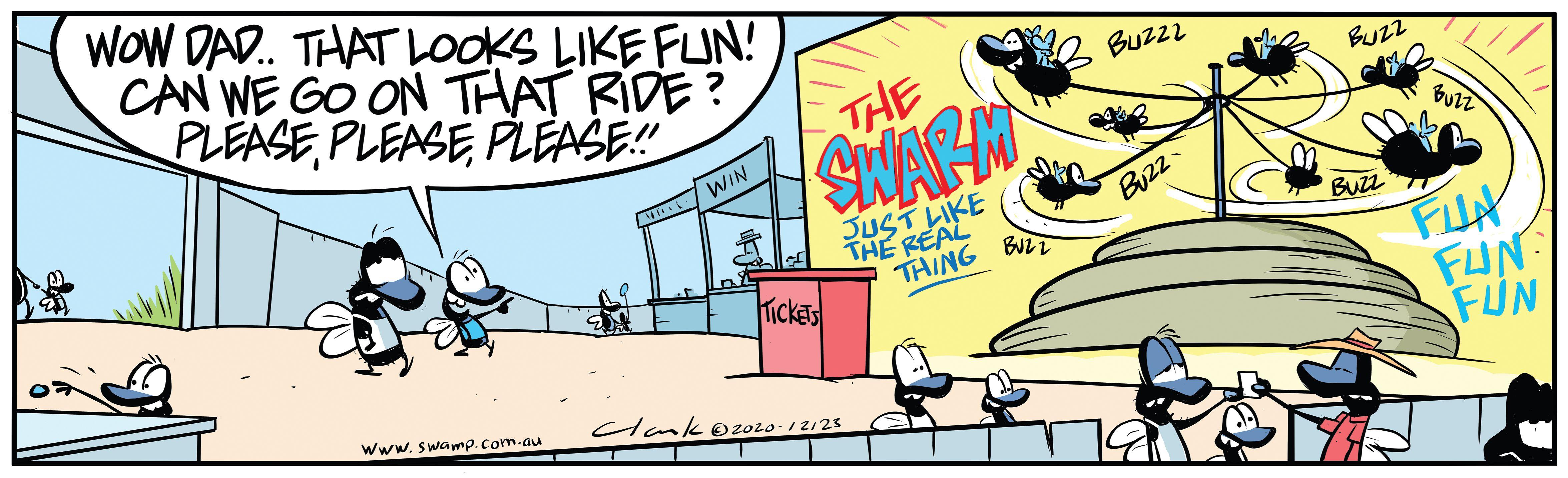 Flies Cowpat Fun Ride