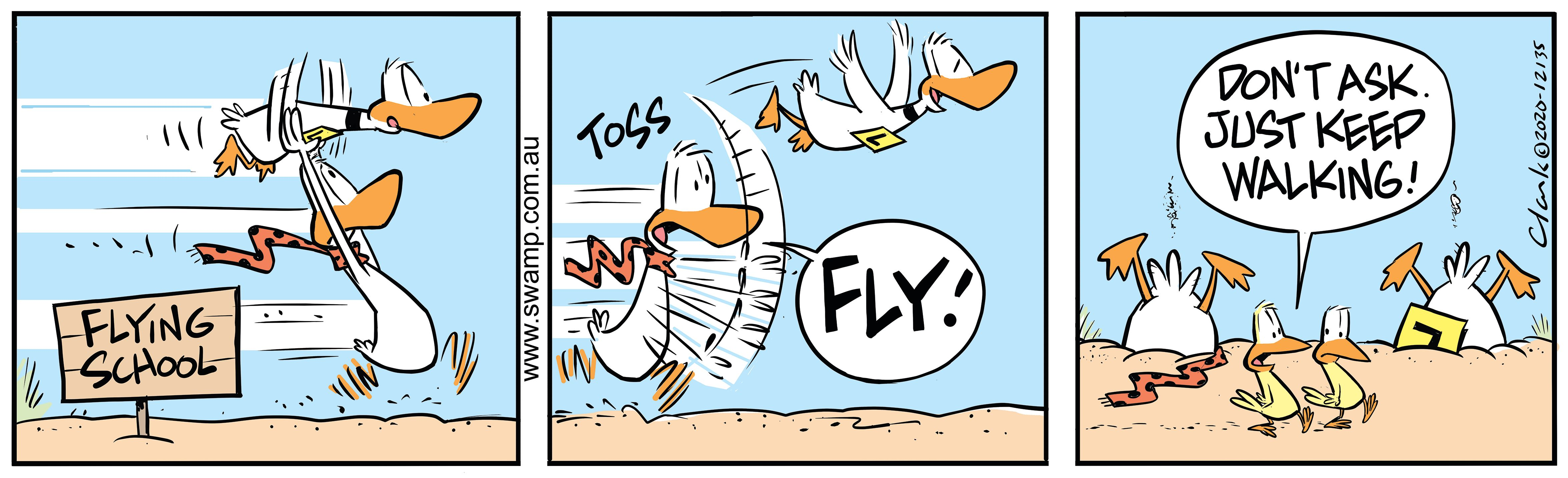 Ding Duck Take-off As