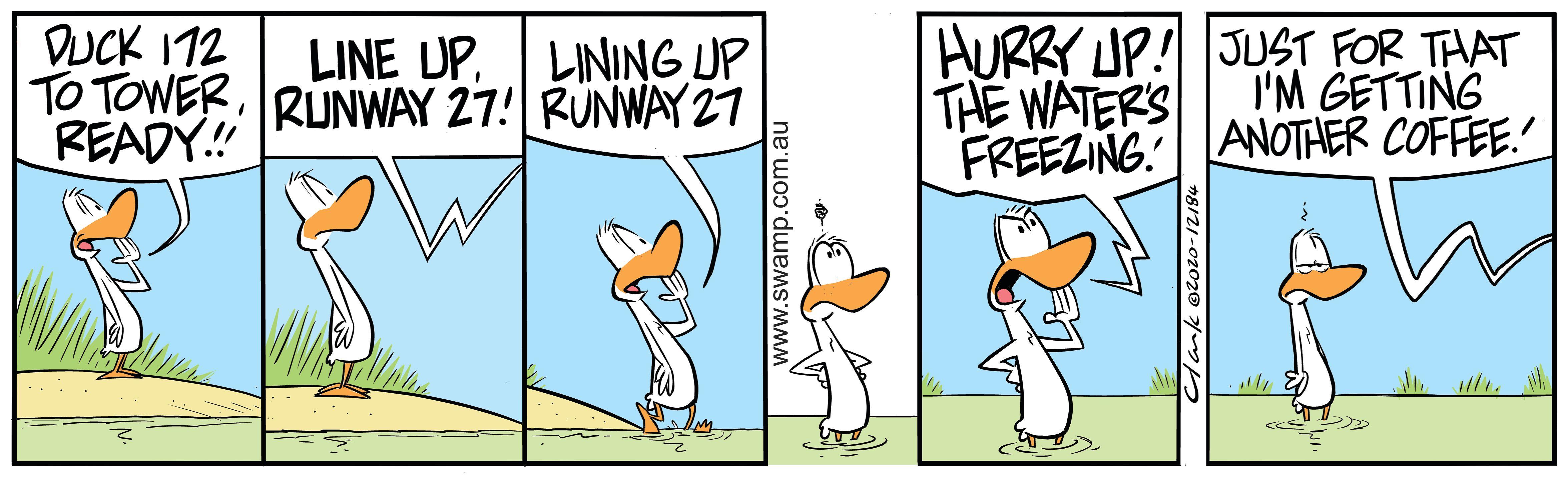 Lining up Runway 27
