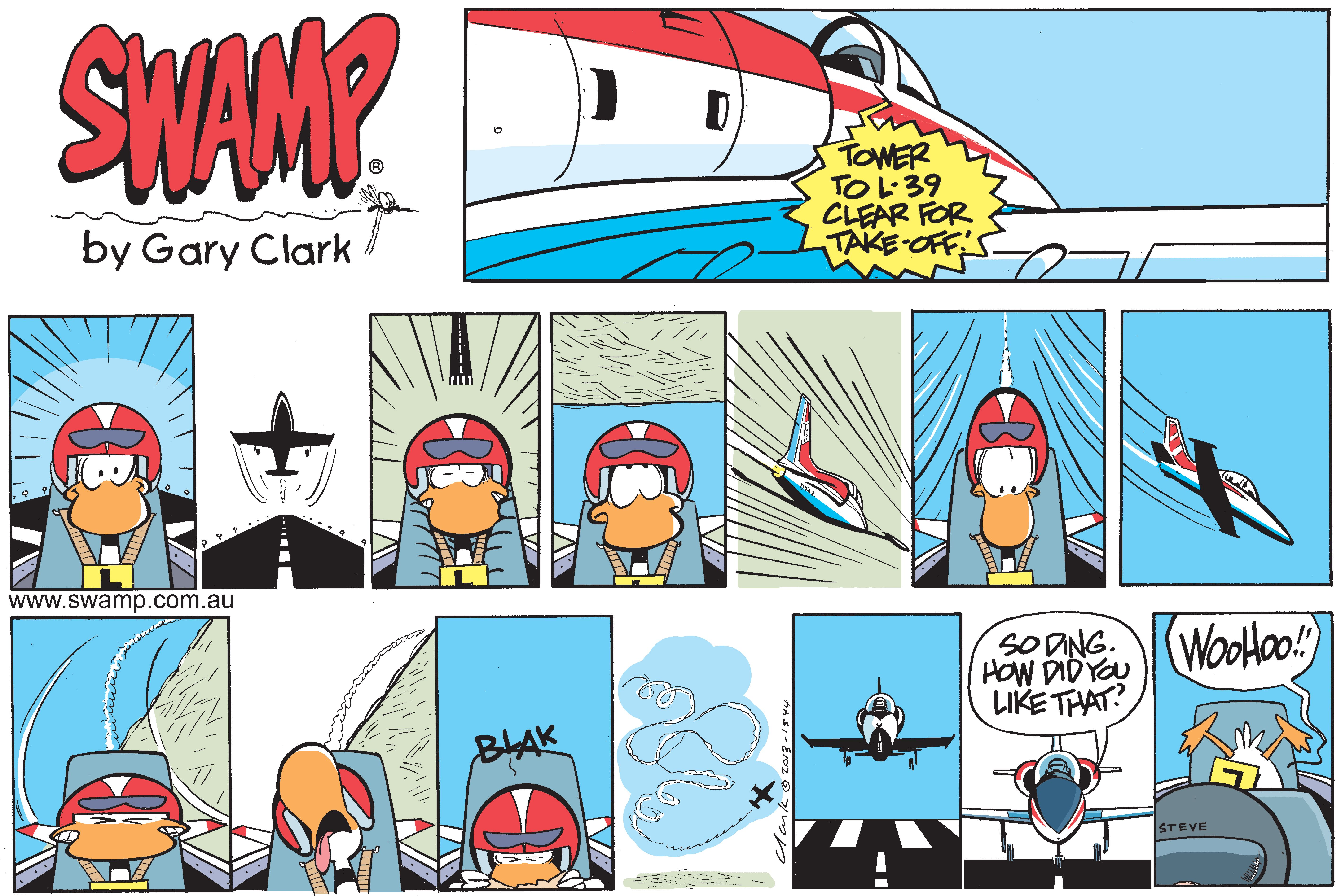 Ding Duck Flight in Jet
