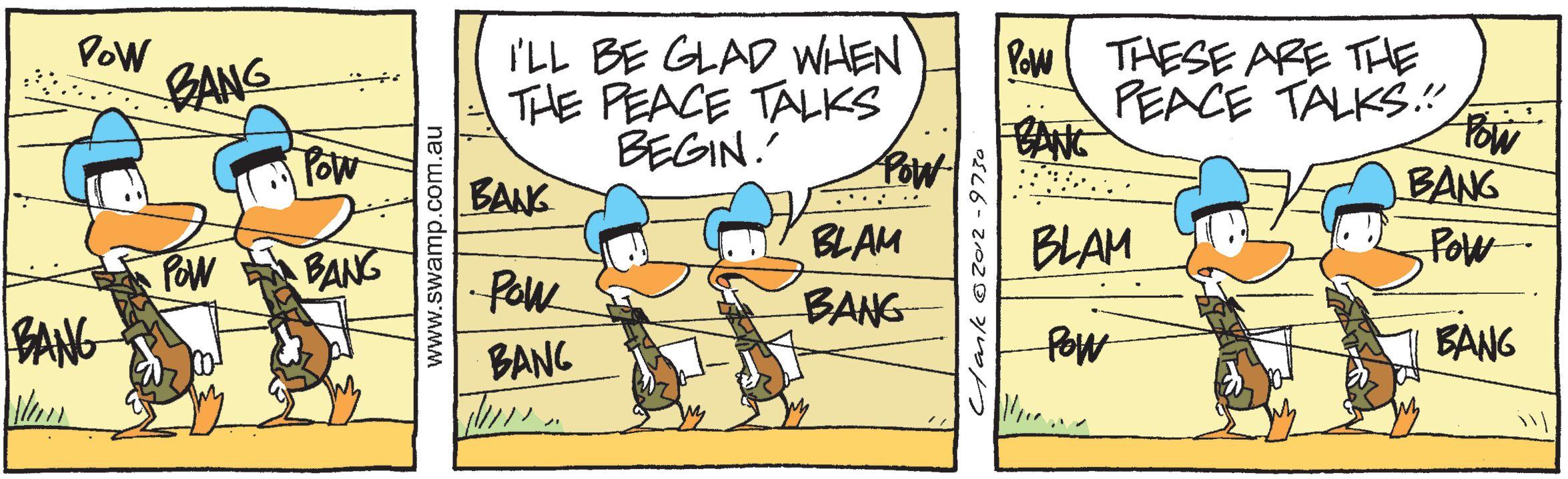 Army Ducks Discuss Peace Talks