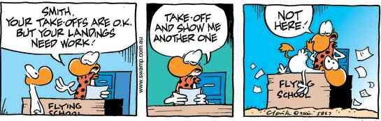 Swamp Cartoon - Smith Duck Crash LandingJuly 8, 2000