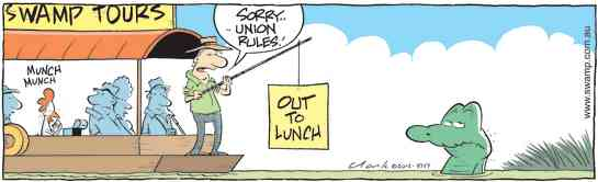 Swamp Cartoon - Union Rules!December 18, 2012