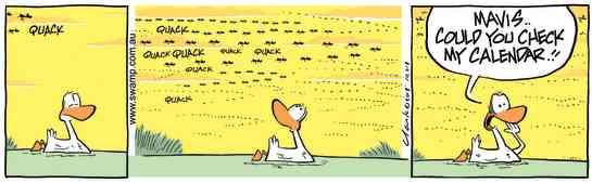 Swamp Cartoon - Ducks Migrating ComicNovember 1, 2013
