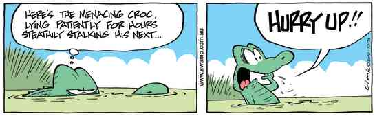 Swamp Cartoon - Old Man Croc StalkingMay 8, 2014